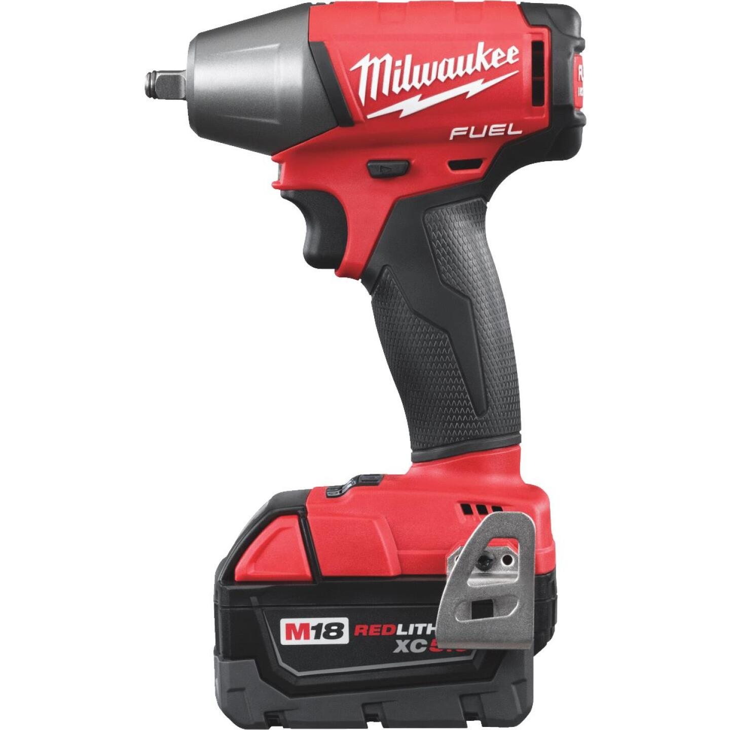 Milwaukee M18 FUEL 18 Volt Lithium-Ion Brushless 3/8 In. Compact Cordless Impact Wrench with Friction Ring Kit Image 4