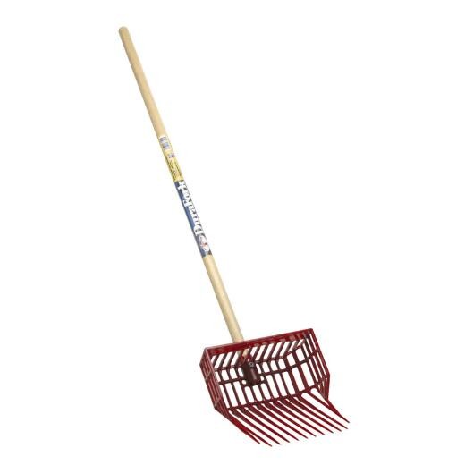 Little Giant DuraFork Polycarbonate 12-Tine 42 In. Hardwood Handle Small Stable Fork, Red